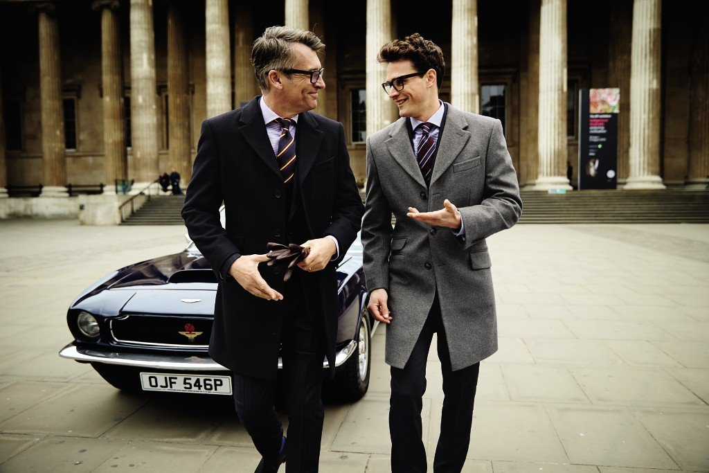 Father and son dressed in Charles Tyrwhitt collection