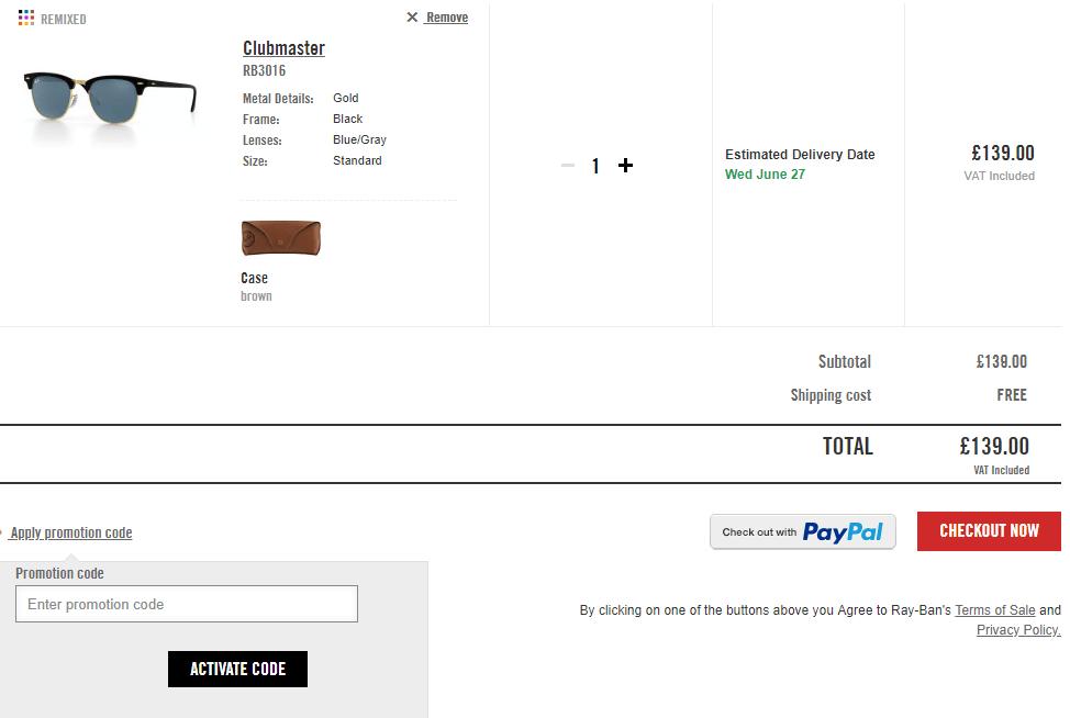 20% Off Ray-Ban Discount Codes   Vouchers   8 February b68dea65da6e